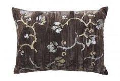 Pillow w/ Italian-Style Stenciled Velvet
