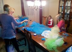 Getting to the finish Almost a dozen tutus down!