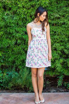 Spring Dresses, Bridal Party Dresses, Easter Dresses, Sweetheart Floral Dress – Morning Lavender