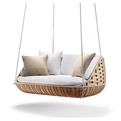 Discover Swingrest SwingUs 2 Seater and all Dedon collection on Mohd. Outdoor Sofa, Outdoor Living, Outdoor Furniture, Outdoor Decor, Indian Swing, Fresco, Lounge Chair, Swinging Chair, Decorative Cushions