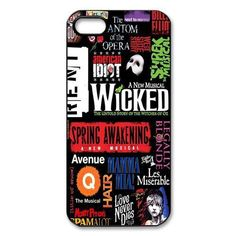 Broadway Musical Wicked Case for iPhone 4S 5 5S 5C 6 6S Plus Samsung Galaxy S3 S4 S5 Mini S6 Edge Plus A3 A5 A7 Note 2 3 4 5
