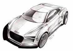 automobile designer Audi e tron Detroit Concept Sketch