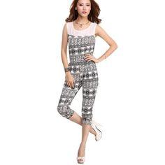 FINEJO Women's Chiffon Sleeveless Jumpsuits Pants Graceful Romper [Apparel]