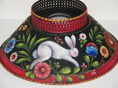 Painting Folk Art Pieces with patterns that anyone can paint. These folk art patterns are by Rosemary West. Rosemary West, Bunny Lamp, Norwegian Rosemaling, Tole Painting Patterns, Henna Patterns, Wood Patterns, Scandinavian Folk Art, Russian Painting, Cool Paintings