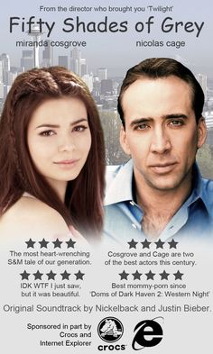 Nicolas Cage and Miranda Cosgrove as the Leads in 'Fifty Shades of Grey'!