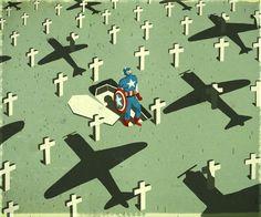 Superhero reborn in cinema,emiliano ponzi illustration