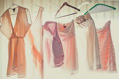 beautiful pre-wedding dress shot...reminds me of my girls dresses and all the different pastel pinks