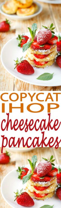Easy Cheesecake Pancake Recipe is a copycat IHOP recipe that is super easy to make and tastes like a million bucks. You'll want to serve this up for breakfast every weekend. It's that good.