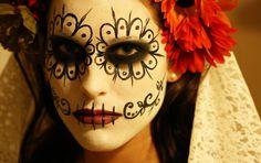 digitale fotografie geschminkte frau dia de los muertos