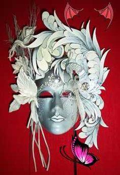 Maschere Veneziane - Venetian Masks<br> Carnival Makeup, Carnival Masks, Mask Face Paint, Venice Mask, Mask Tattoo, Carnival Of Venice, Beautiful Mask, Masks Art, Venetian Masks