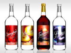 PROFDRINK - Dizajn etikiet na radu konzumných alkoholov pre výrobcu alkoholu Profdrink, Bratislava.