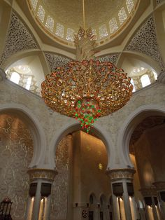 The biggest crystal chandelier in the world this is another the biggest crystal chandelier in the world this is another magnificent feature of the grand mosque in muscat consisting of swarovski crystal aloadofball Gallery