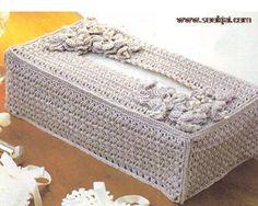 งานฝีมือ - แพทเทิร์น โครเชต์ Free Crochet Doily Patterns, Crochet Designs, Crochet Doilies, Crochet Case, Annie's Crochet, Tissue Box Covers, Tissue Boxes, Handmade Birthday Gifts, Crochet Accessories
