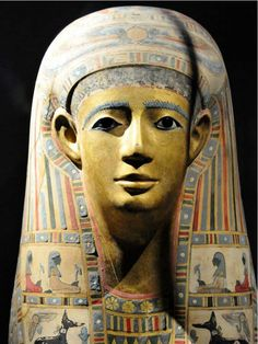 Egyptian mummy mask. Boston Museum of Fine Arts.