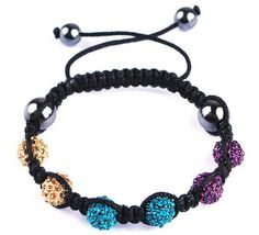 45mm Colorful Fashion Noble Resin Crystal Disco Ball Bracelet Fashion Charms Jewelry