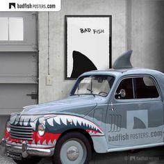 #BadFishMobile #BadFish #Original #SharksFin #Jaws #AlternativeMoviePoster #OftenCopied #HomeDecor #CoolPosters #WallDecor #MadeInSweden #BadFishPosters . www.badfishposters.com . www.badfishposters.etsy.com