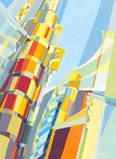 TOWNS AND CITIES. Paola Minekov. See also Sonia Delaunay and Piet Mondrian.