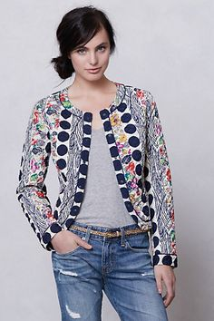 Salta Quilted Jacket! In love with the printed jackets!