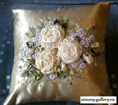 .. Floral Embroidery Patterns, Rose Embroidery, Hand Embroidery Stitches, Silk Ribbon Embroidery, Hand Embroidery Designs, Ribbon Jewelry, Ribbon Art, Ribbon Crafts, Fabric Flowers