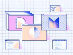 DOM by Kasia Bojanowska for DigitalOcean on Dribbble Graphic Design Posters, Graphic Design Illustration, Graphic Design Inspiration, Creative Inspiration, Flat Illustration, Web Design, Layout Design, Identity, Portfolio Layout