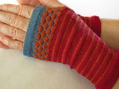 Wrist Warmer Fingerless Gloves, Red and Orange Merino Wool. $48.00, via Etsy #texture