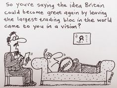 """""""My cartoon - Britain can become great again by leaving the largest trading bloc in the world, can't it? Funny Political Memes, Shovel, Britain, Politics, Cartoon, Sayings, Fictional Characters, Ebay, Twitter"""