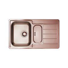 CHIUVETA DE BUCATARIE ALVEUS MONARCH COLLECTION LINE INSET 30 COPPER ,LA NIVELUL BLATULUI ,INOX - Iak Tray, Copper, Kitchen, Cooking, Kitchens, Trays, Brass, Cuisine, Cucina