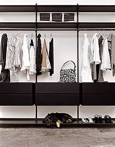 Basic picture of what we want. Shelf on top, then hanging rod below, then drawers, then maybe space for shoes underneath on one side each