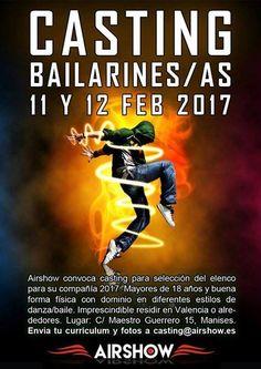 Castings para bailarines y profesores de baile: Airshow convoca casting para bailarines / bailarin...