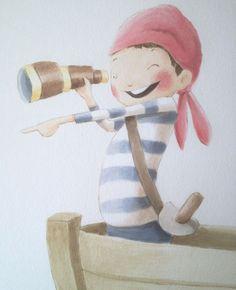Murales infantiles pintados para dormitorio bebe, Érase una vez - Mamidecora