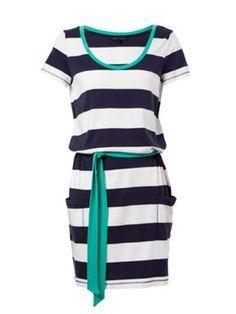 f5be236b1c93d TOMMY HILFIGER Gante Stripe Short Sleeve Tie Dress Cruise Attire