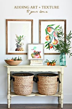 How to add art and texture to your home.