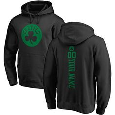 Men s Boston Celtics Fanatics Branded Black Personalized One Color Backer  Pullover Hoodie One Color 3307e070c