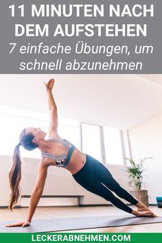 Du willst Fitness Übungen zuhause und ohne Geräte machen, damit du schnell abnehmen kannst? Unser Bauch Beine Po Workout dauert nur 11 Minuten und sorgt für einen schnellen Fettabbau. #fitness #übungen #abnehmen #workout