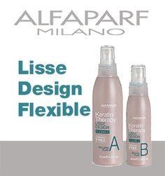 ALFAPARF - LISSE DESIGN FLEXIBLE KIT Trattamento rimodellante con cheratina. Nel tempo di una piega elimina istantaneamente il crespo e progressivamente ridefinisce la struttura del capello e ne riduce il volume fino ad ottenere, in 5 applicazioni, un capello liscio. Per ogni servizio risultati duraturi fino a 2/3 mesi. Ideale come mantenimento dopo qualsiasi servizio stirante. Per tutti i tipi di capello, anche decolorato.  #hair #flexible #kit #alfaparf #milano #capelli #keratin