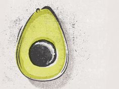 What a great avocado illustration by Sergey Grigoryan.