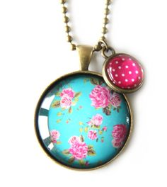 Pink & Cyan Polka Dot Pendant by Cloud Nine Creative (Lee Sinclair) Summer Shades, Sixties Fashion, Chunky Jewelry, Pink Turquoise, Chandelier Earrings, Wearing Black, Body Shapes, Chic Outfits, Tshirt Colors