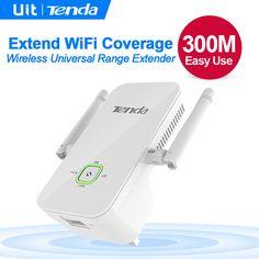 Tenda A301 Wireless Range Extender, Wifi Signal Amplifier //Price: $26.44     #techie Wireless Router, Wifi, English, Range, Watch, Cookers, Clock, Bracelet Watch, Clocks