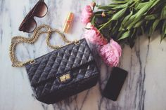 Chanel 2.55 Reissue black with GH, double-compartment :)