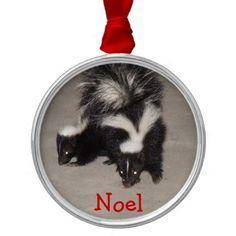 Baby Skunks Christmas Ornament