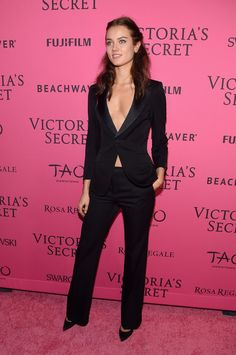 Pin for Later: Just When You Thought It Couldn't Get Any Hotter, the VS Angels Hit the Afterparty Monika Jagaciak Who says suits can't be sexy?