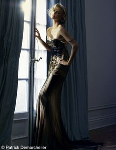 Charlize Theron in Dior by Patrick Demarchelier