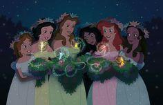 Fan Art of A Sylvan Enchantment for fans of Disney Princess. Disney And Dreamworks, Disney Pixar, Walt Disney, Disney Crossovers, Disney Movies, Disney Characters, Disney Fairies, Disney Magic, Tinkerbell
