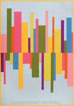 Heartbeat Column Quilt from the book, Quick Column Quilts, by Nancy Zieman Strip Quilts, Easy Quilts, Mini Quilts, Quilt Blocks, Quilting Projects, Quilting Designs, Sewing Projects, Quilting Patterns, Nancy Zieman