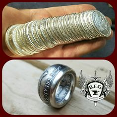Got Silver? We do..plenty of it.. pure Silver Don't Tread on Me coin ring..