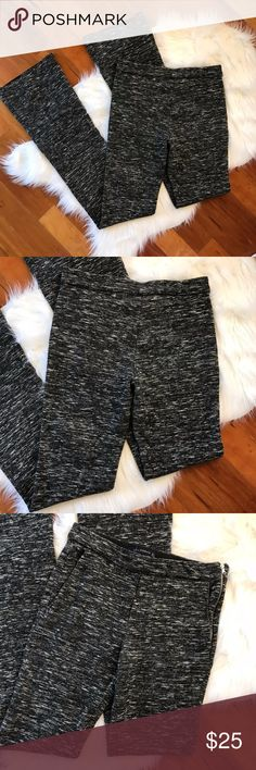 """Zara Woman SAM 851 Marble Knit Pants Flared NWOT Zara Woman Women's SAM 851 Marble Knit Pants Long Size S Flared Black Gray Wool  Measurements were taken on one side with garment laid flat: Waist: 14"""" Inseam: 37"""" Length: 44.5"""" Cuff: 9.5"""" Front rise: 9"""" 41% Acrylic, 41% Wool, 15% Cotton, 3% Polyamide Zara Pants Boot Cut & Flare"""