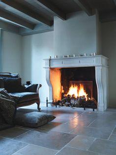 Portfolio - impressie openhaarden | Daniëls openhaarden Fireplace, Home Decor, Decor