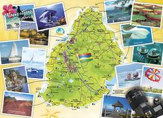 Map of Mauritius Holiday Attractions