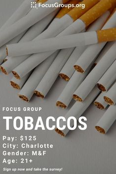 Focus Group on Tobaccos in Charlotte