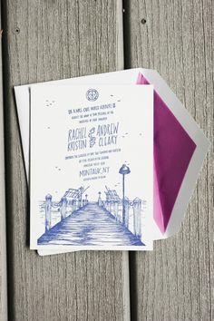 Nautical wedding invitations: http://www.stylemepretty.com/new-york-weddings/montauk/2014/11/03/romantic-seaside-wedding-at-the-montauk-yacht-club/ | Photography: Charlotte Jenks Lewis - http://charlottejenkslewis.com/